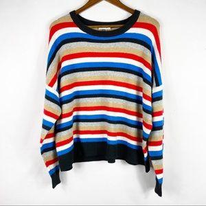 COURT & ROWE Striped Crop Sweater NWT in Size XXL